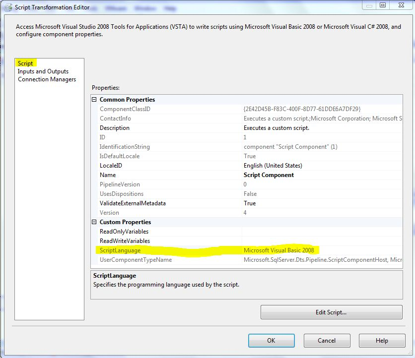 Script Component as Source - SSIS - Reza Rad's Technical blog
