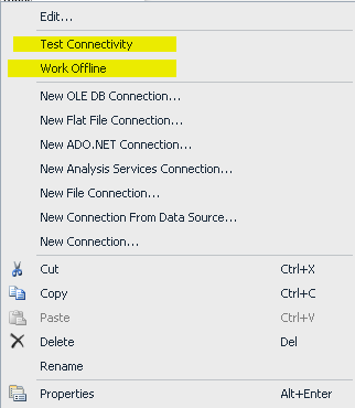 How to get rid of TESTING CONNECTIVITY at the time of Opening SSIS