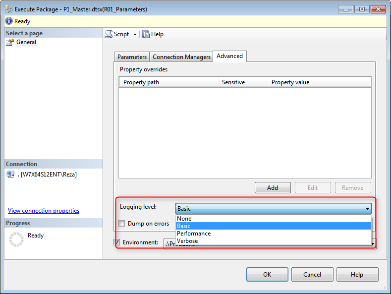 SSIS Catalog: Part 5 - Logging and Execution Reports - Reza